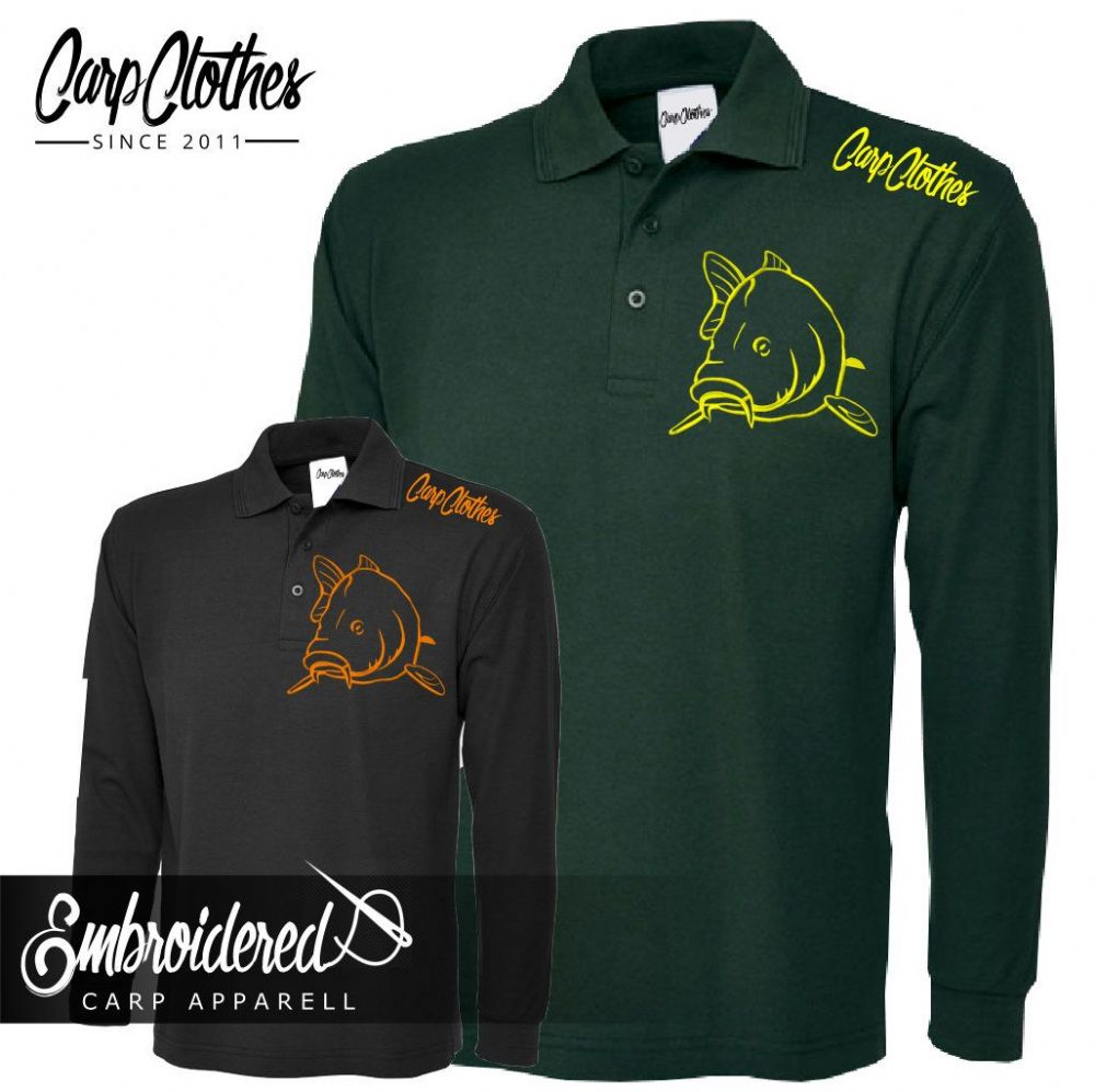 004 EMBROIDERED CARP  LS  POLO
